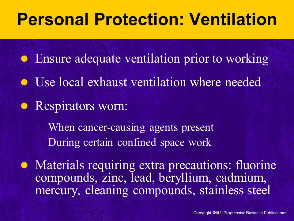 Personal Protection: Ventilation