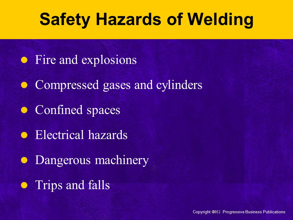Safety Hazards of Welding