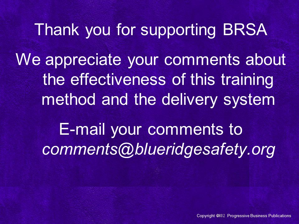 Thank you for supporting BRSA