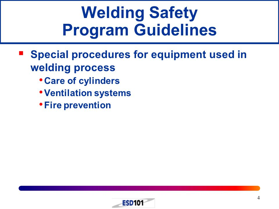 Welding Safety Program Guidelines