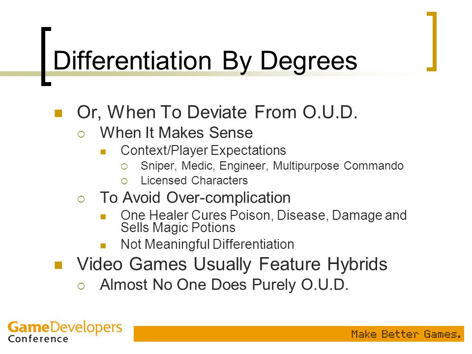 Differentiation By Degrees