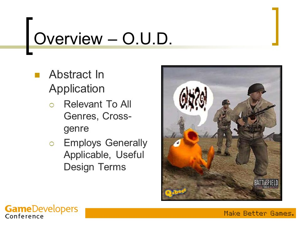 Overview – O.U.D. Abstract In Application