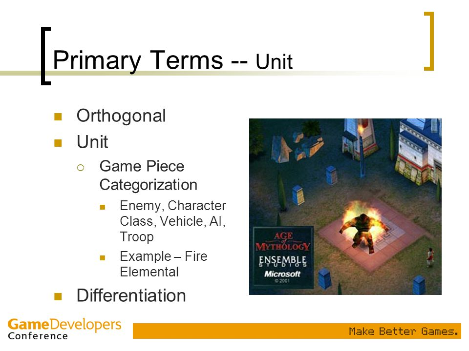 Primary Terms -- Unit Orthogonal Unit Differentiation