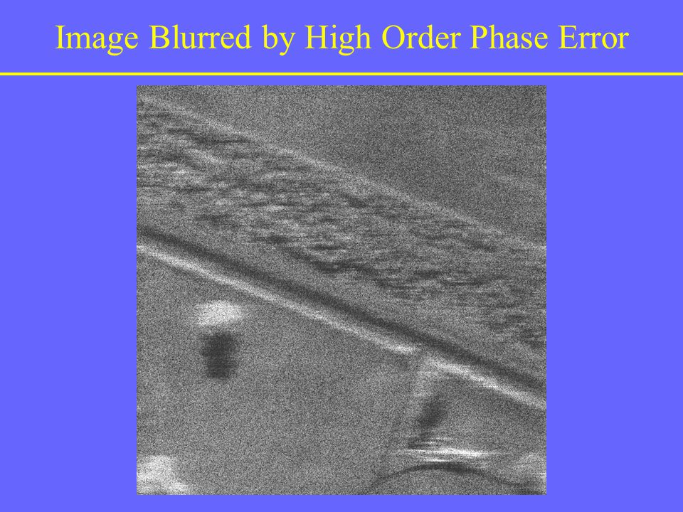 Image Blurred by High Order Phase Error