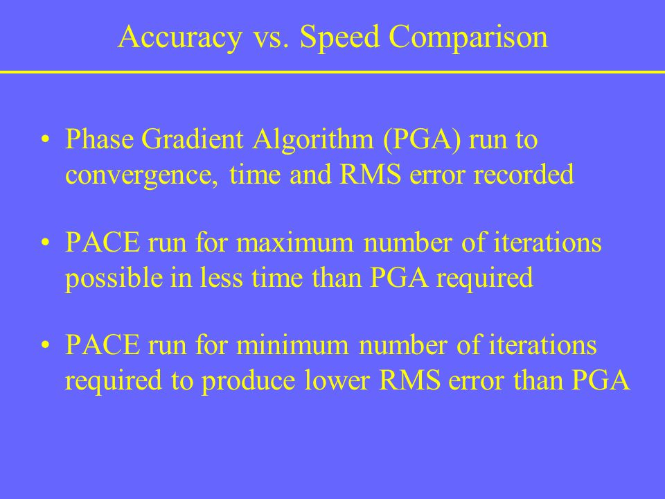 Accuracy vs. Speed Comparison