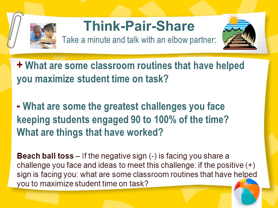 Think-Pair-Share Take a minute and talk with an elbow partner: