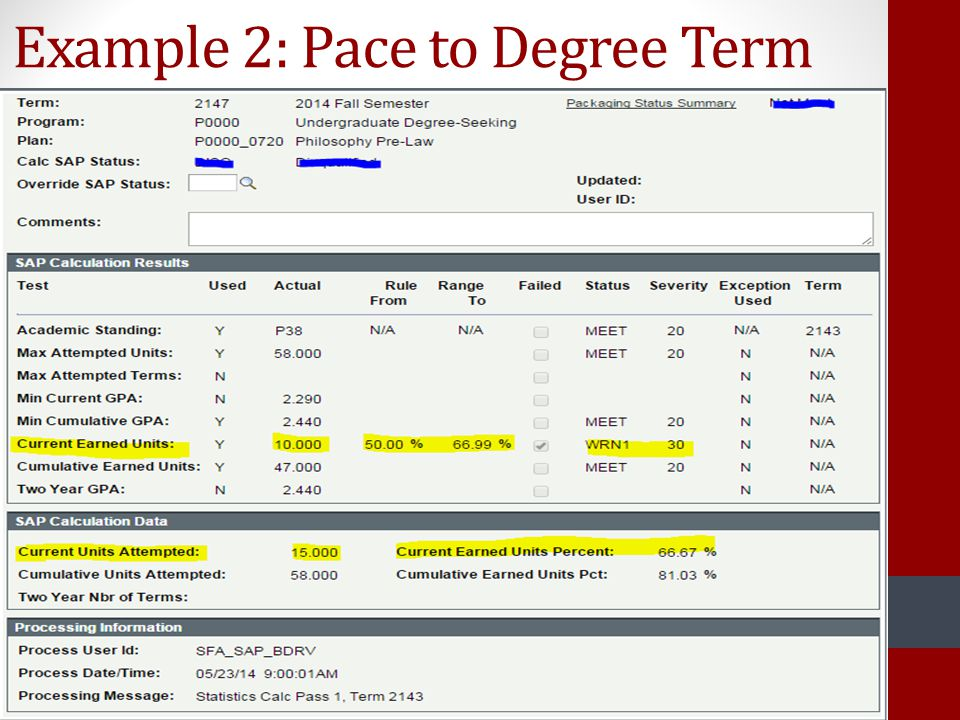 Example 2: Pace to Degree Term