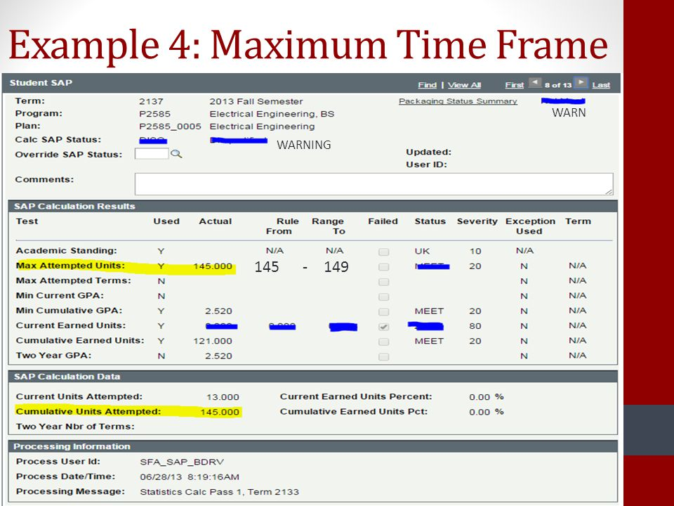 Example 4: Maximum Time Frame