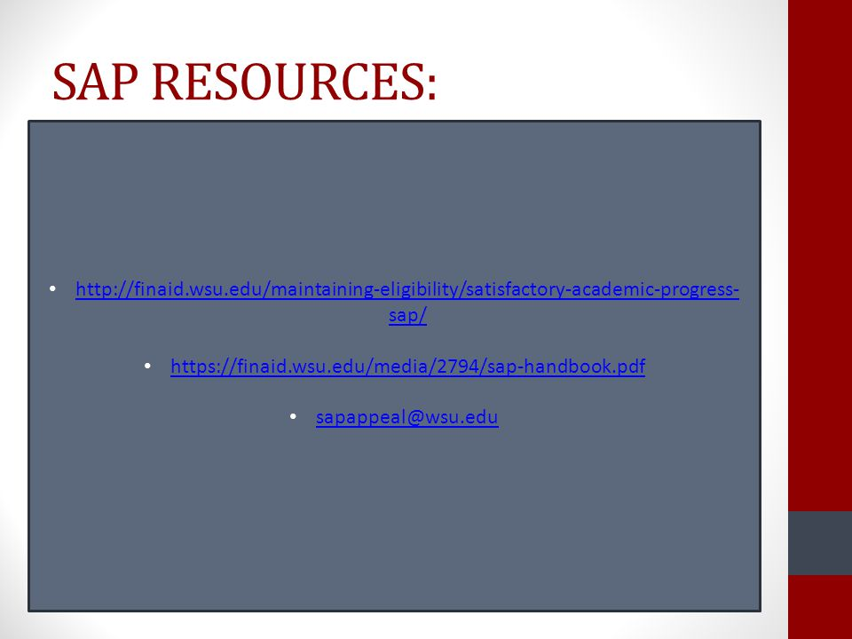 SAP RESOURCES: