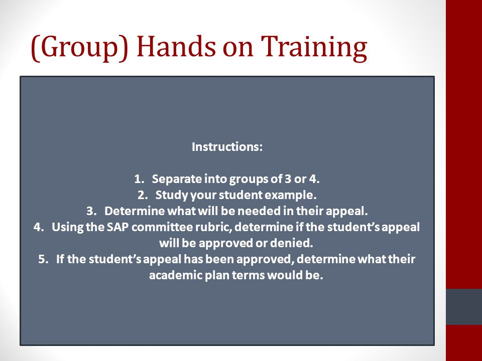 (Group) Hands on Training