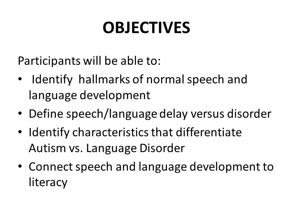 Language Delay Versus Language Disorder >> Navigating Speech And Language Through Preschool Years Ppt Download