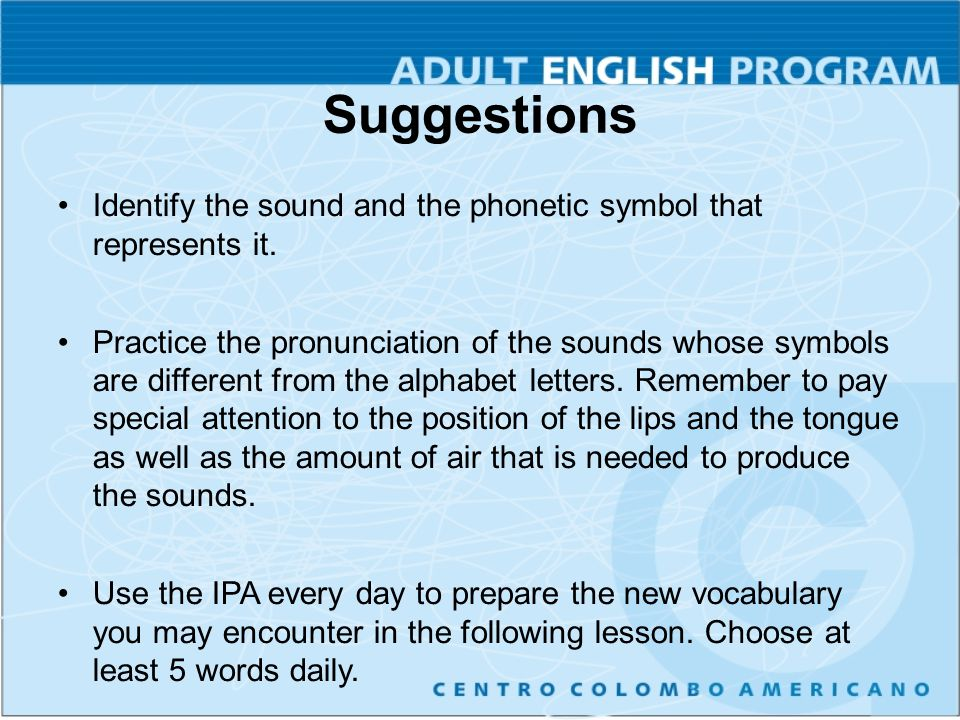 Using The Ipa Effectively Ppt Video Online Download