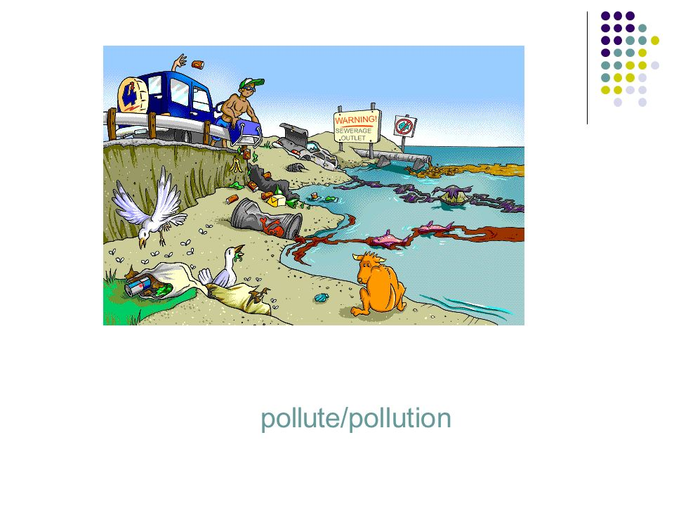 pollute/pollution
