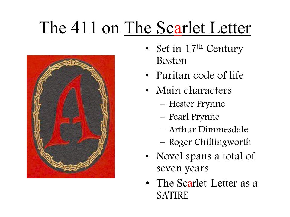 main characters in the scarlet letter the scarlet letter nathaniel hawthorne ppt 11090 | The 411 on The Scarlet Letter