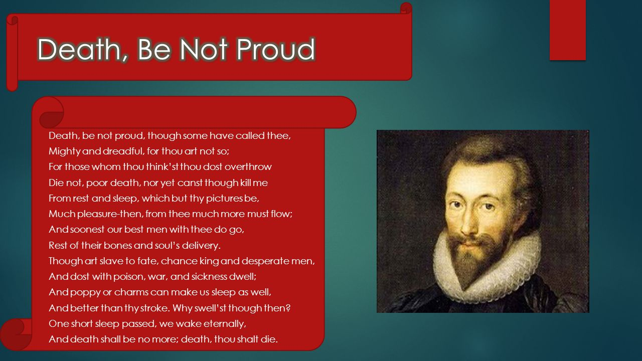 Death Be Not Proud By John Donne Ppt Video Online Download Theme