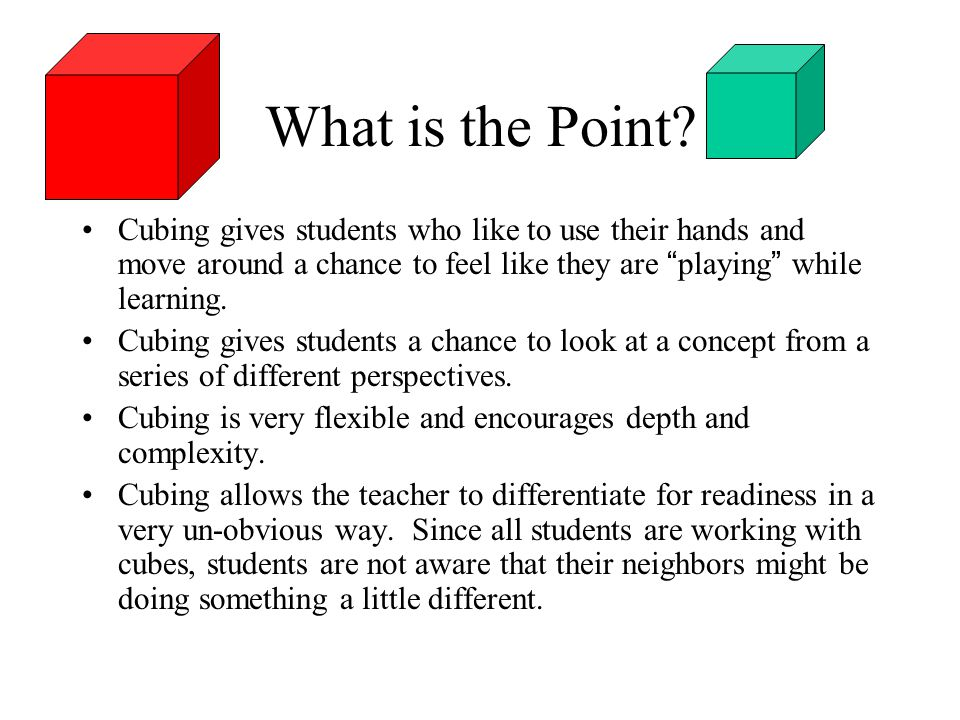 Cubing Activities And Thinkdots Ppt Download
