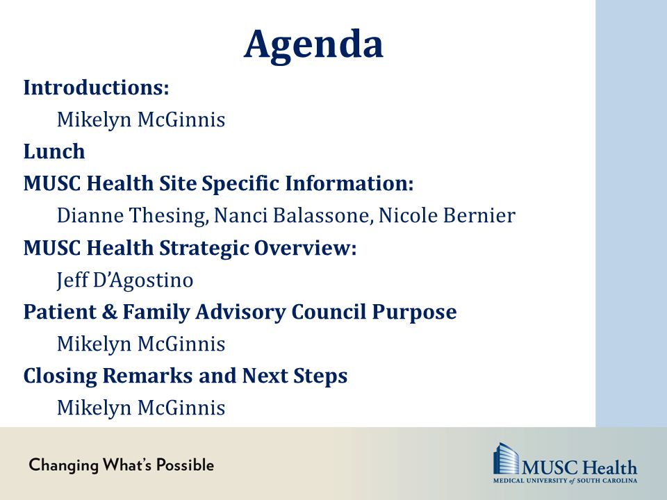 MUSC Health Ambulatory Patient and Family Advisory Council