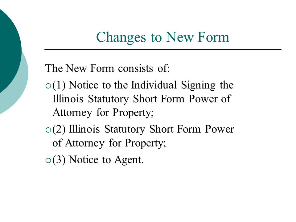 Under The New Power Of Attorney Statute Ppt Download