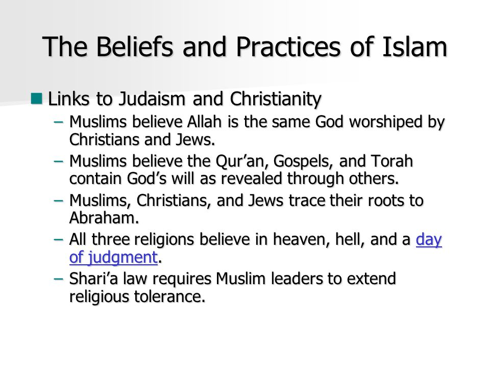 The Beliefs and Practices of Islam