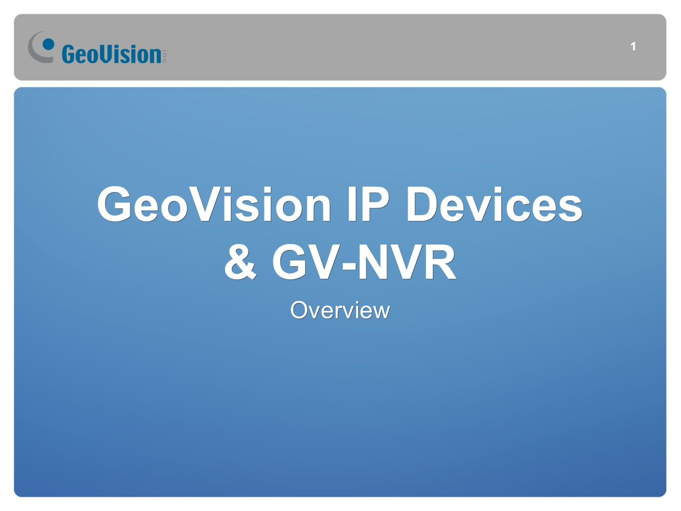 GeoVision IP Devices & GV-NVR