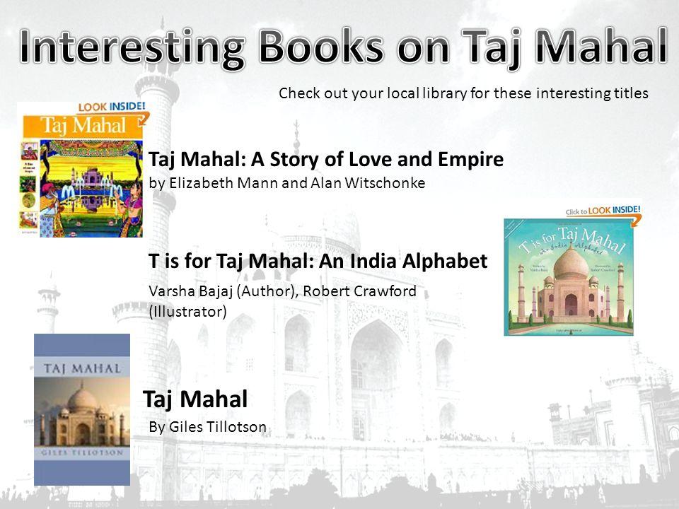 An India Alphabet T is For Taj Mahal An India Alphabet