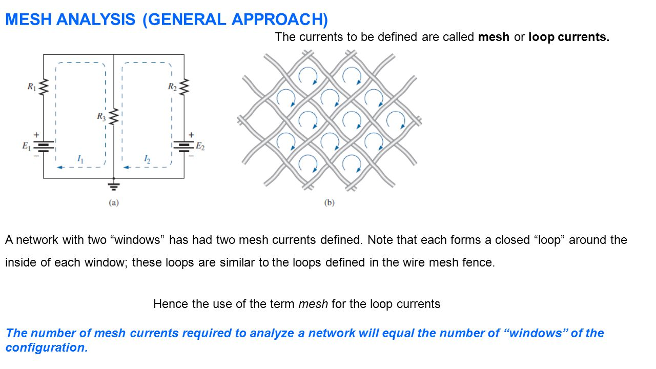 Dc Circuit Analysis Node And Mesh Method Ppt Video Online Download Circuits Nodal General Approach