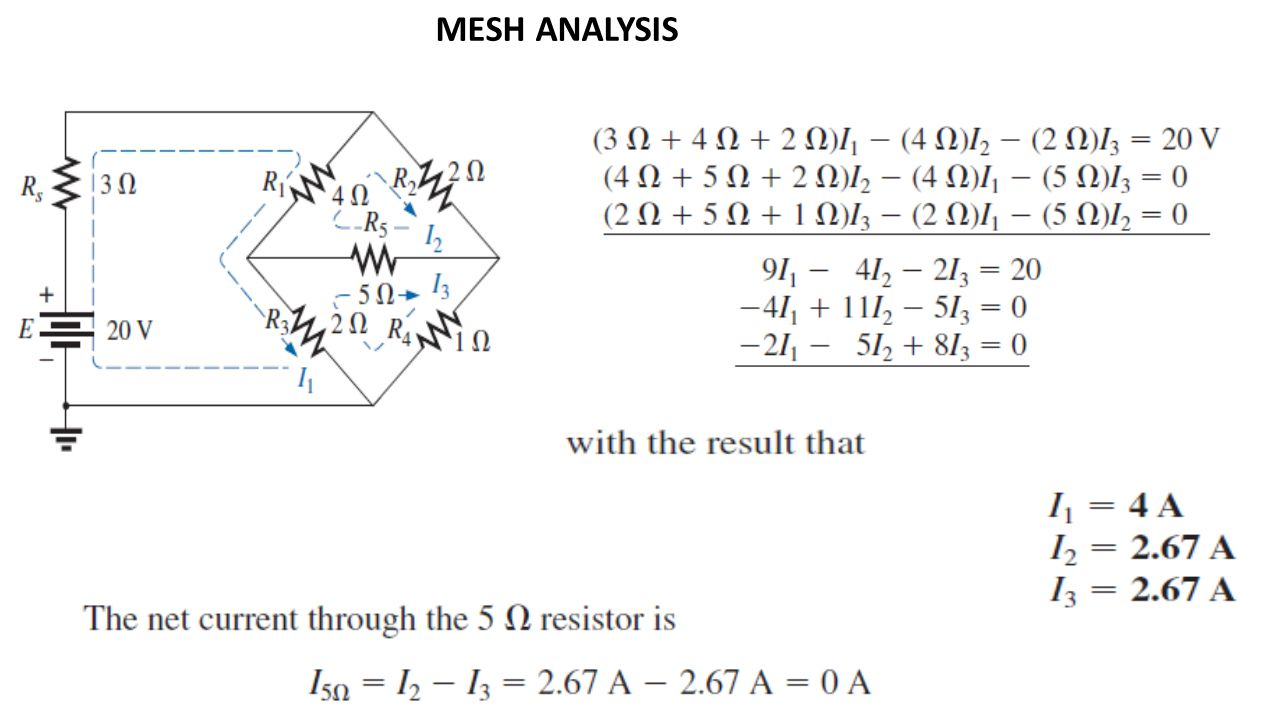 Dc Circuit Analysis Node And Mesh Method Ppt Video Online Download Basic Engineering Software Electronic 34