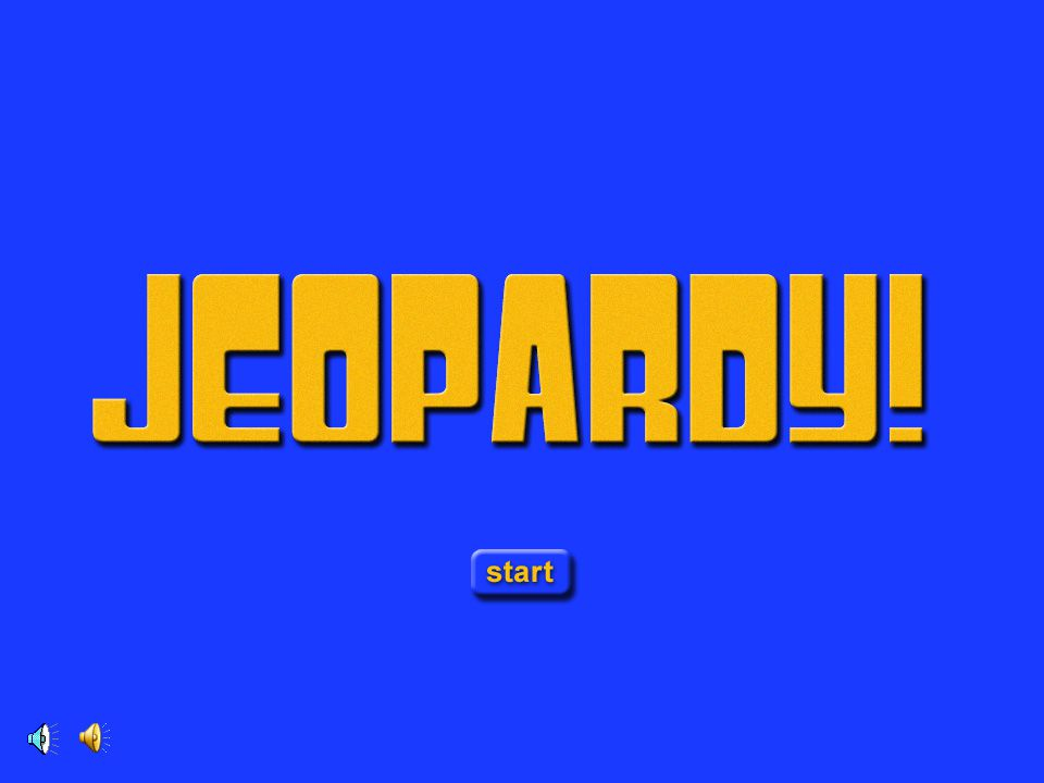 Jeopardy Opening