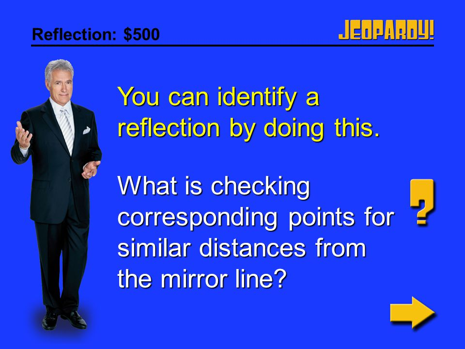 You can identify a reflection by doing this.