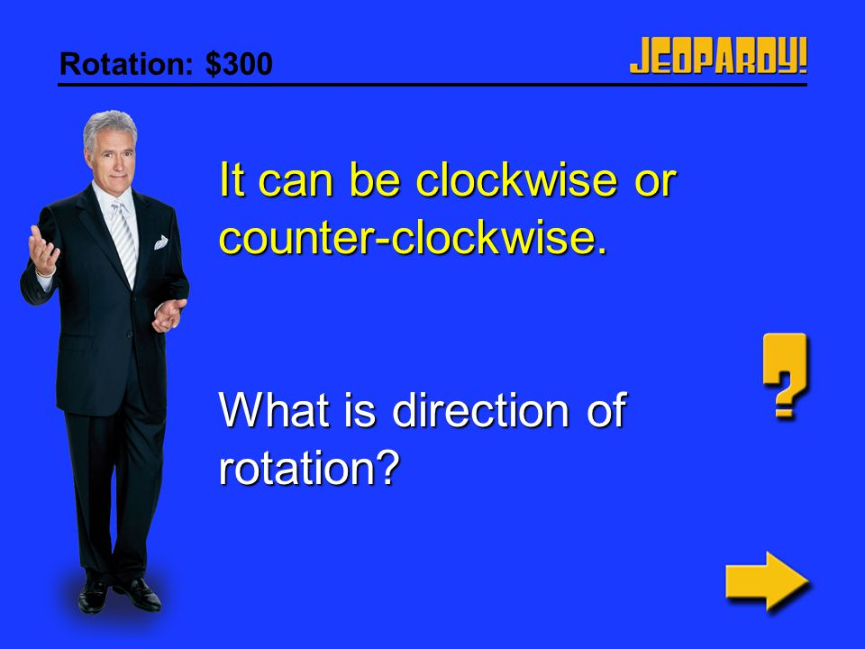 It can be clockwise or counter-clockwise.