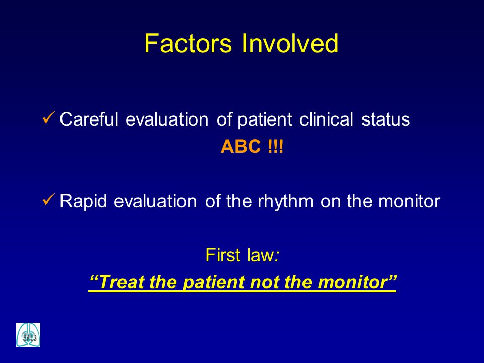 Treat the patient not the monitor