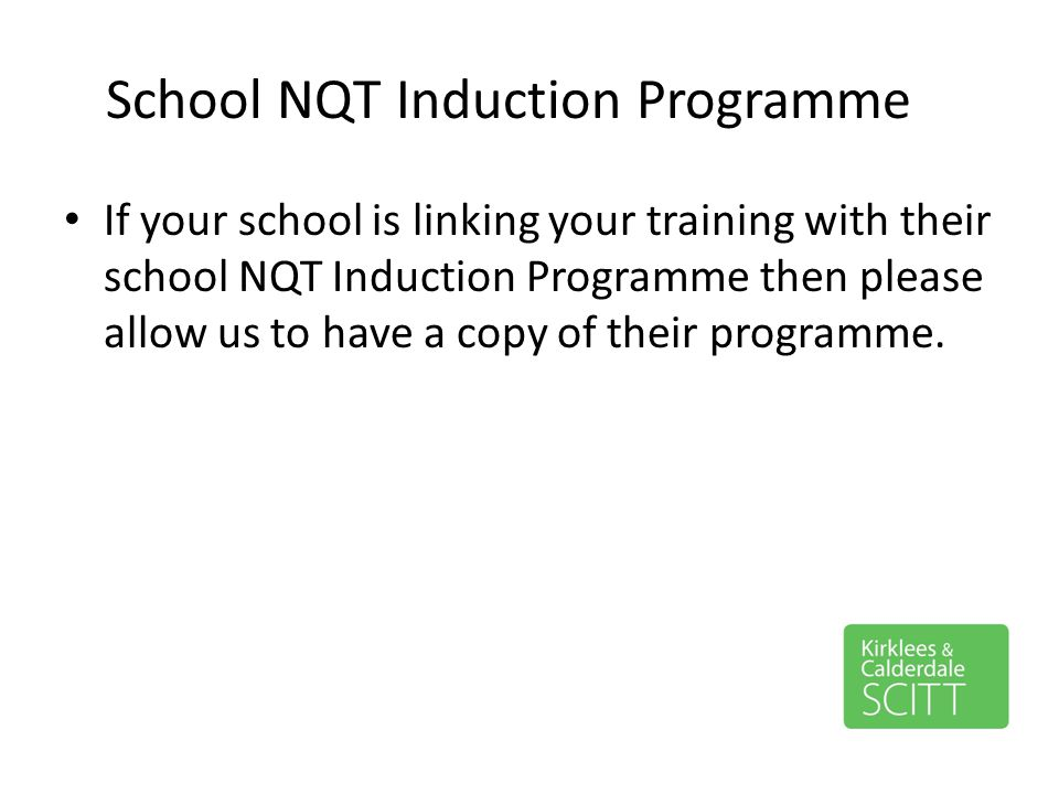 School NQT Induction Programme