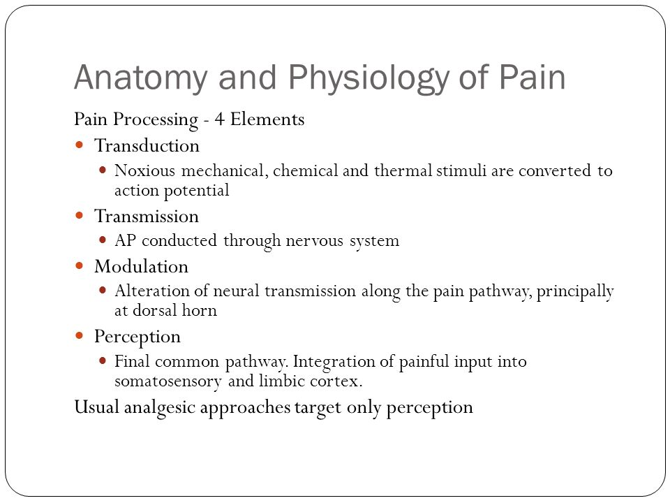 Pathophysiology of Pain Treatment of Acute Postoperative Pain - ppt ...