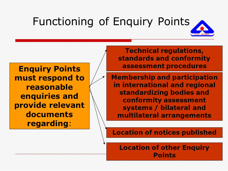 Functioning of Enquiry Points
