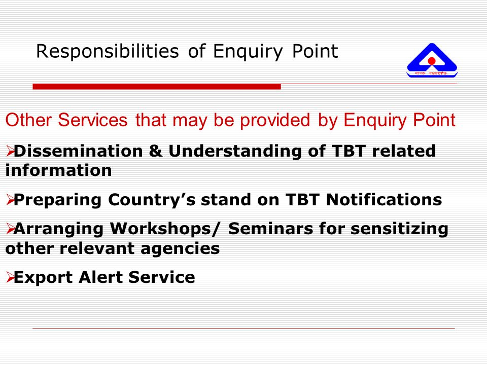 Responsibilities of Enquiry Point