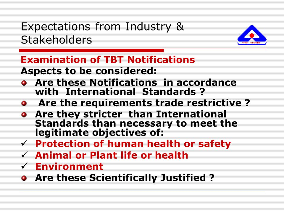 Expectations from Industry & Stakeholders