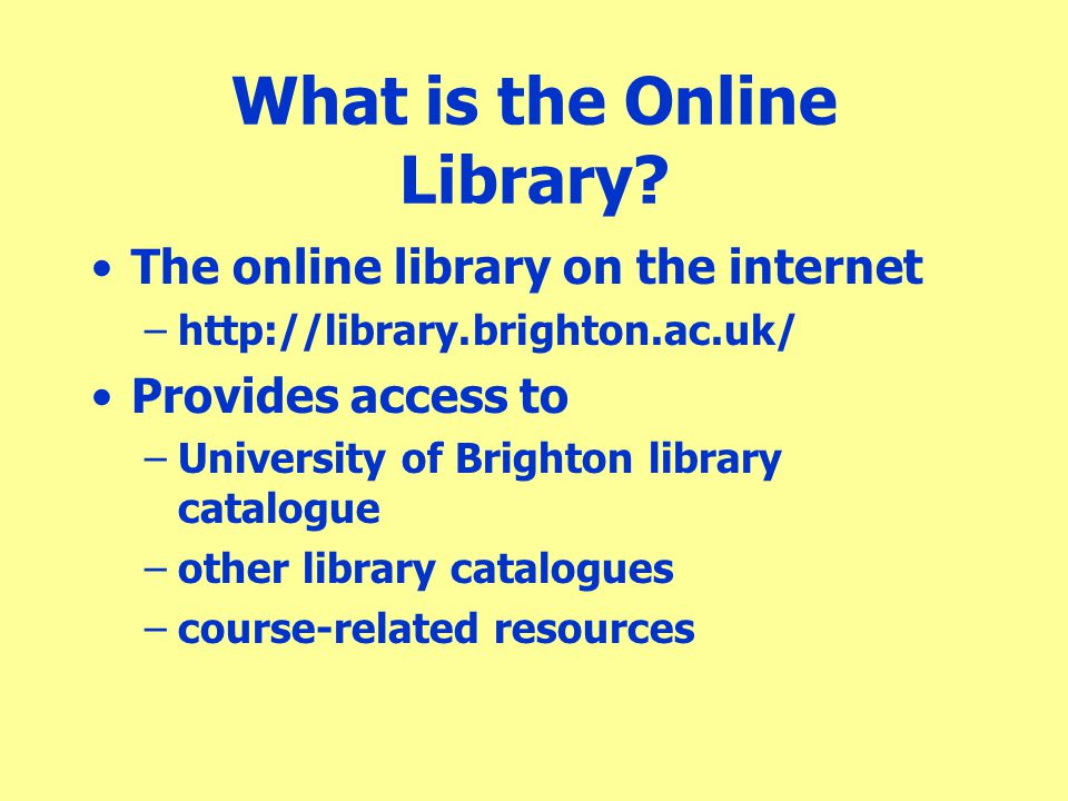 What is the Online Library