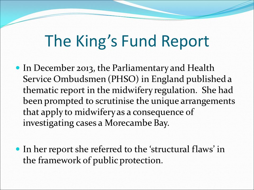 The King's Fund Report