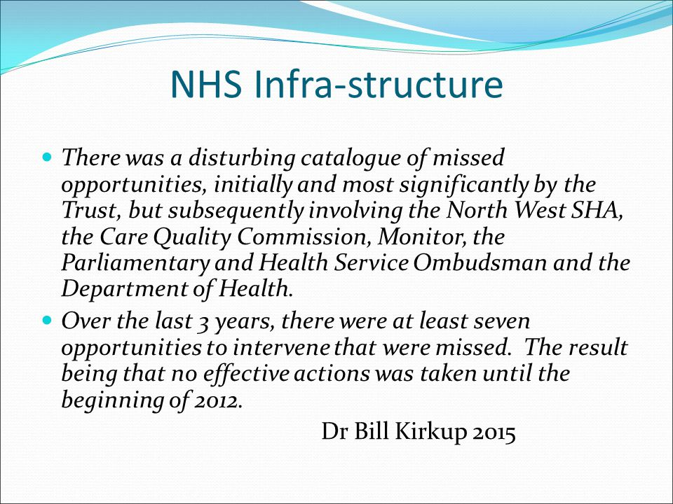 NHS Infra-structure