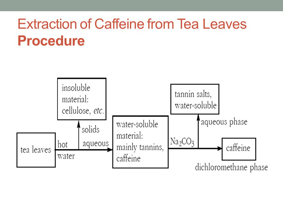 caffeine extraction from tea pre lab report essay Also known as coffee extract, tea extract, 1, 3, 7-trimethylxanthine, liquid crack do not confuse with caffeic acid things to note caffeine is a potent stimulant and typically used as a standard due to its social renown.