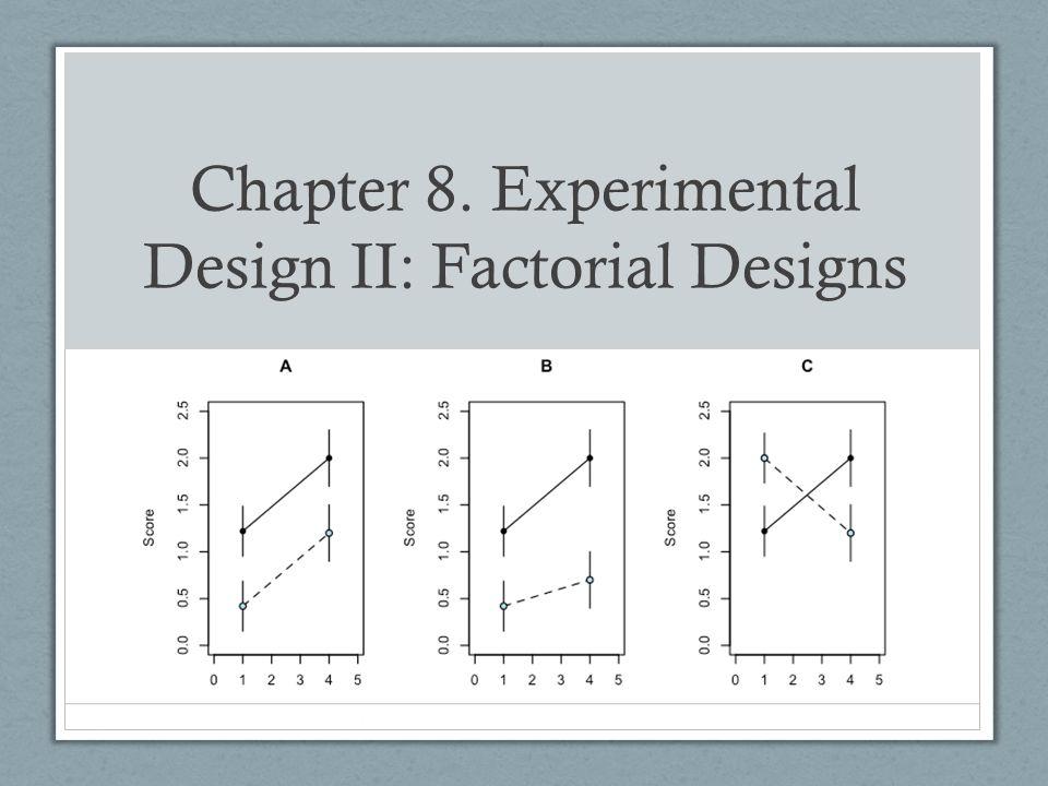 Chapter 8  Experimental Design II: Factorial Designs - ppt