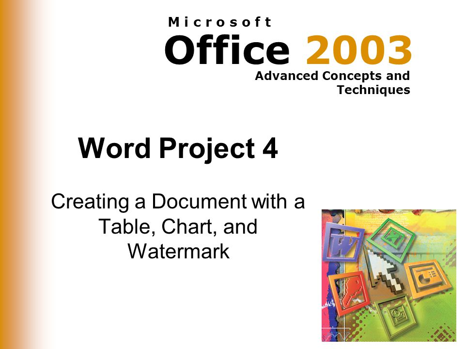 Creating a Document with a Table, Chart, and Watermark