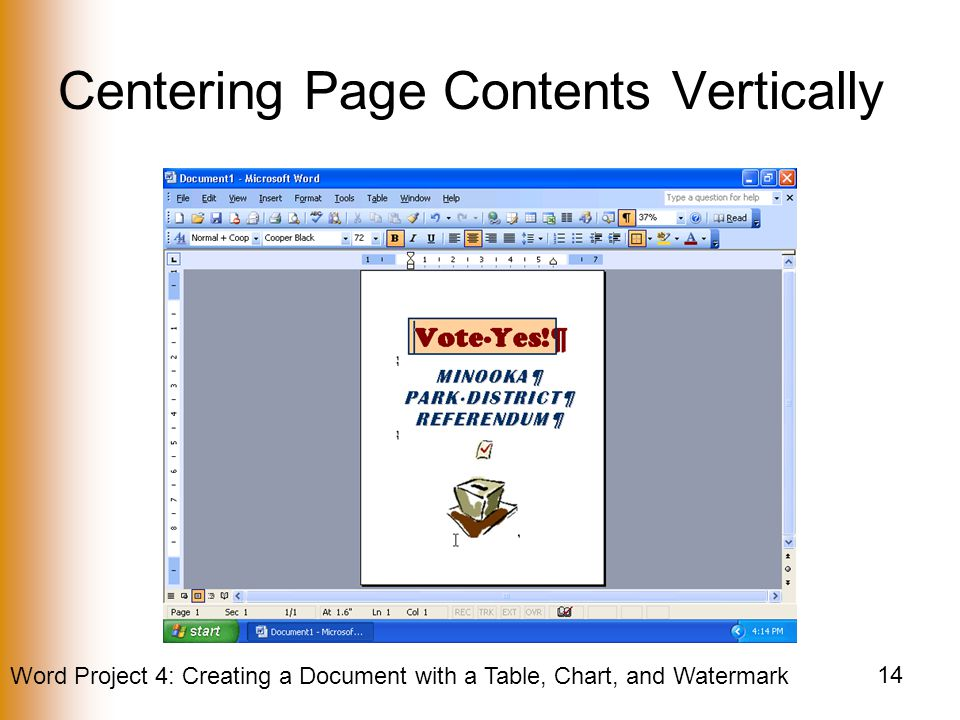 Centering Page Contents Vertically