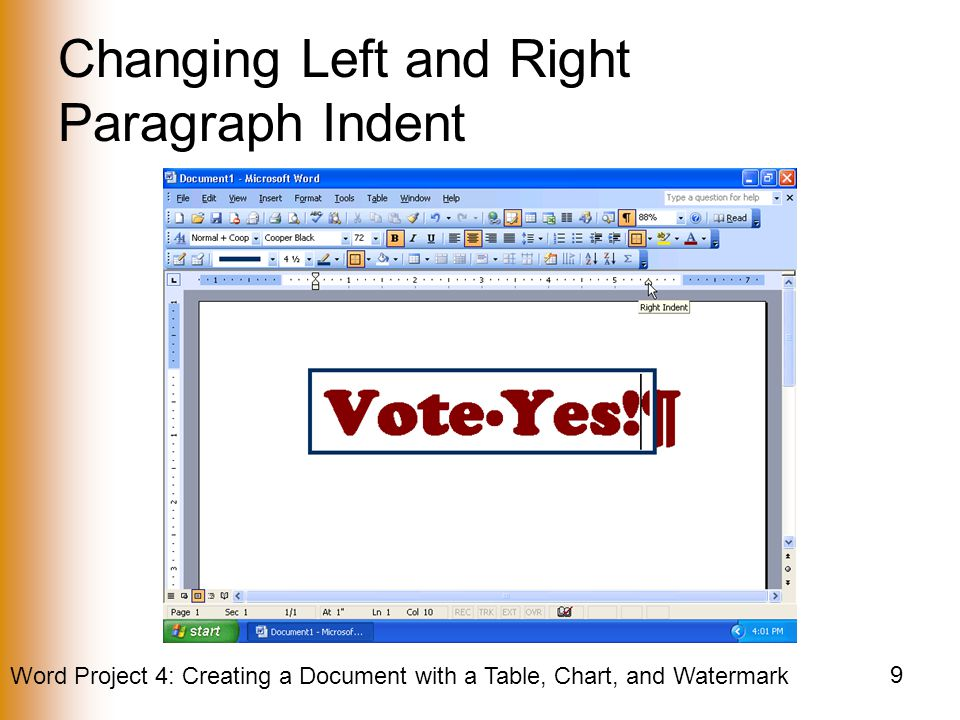 Changing Left and Right Paragraph Indent