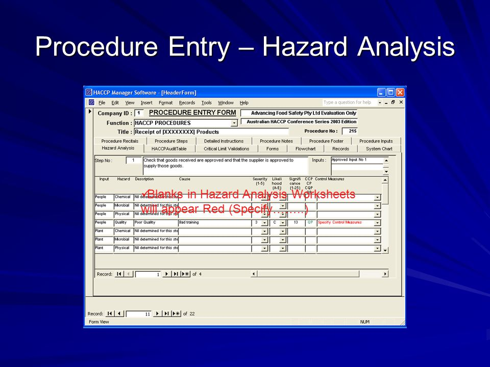 Haccp Manager Software Ppt Video Online Download