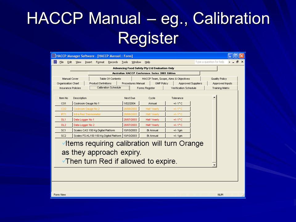 Haccp training software