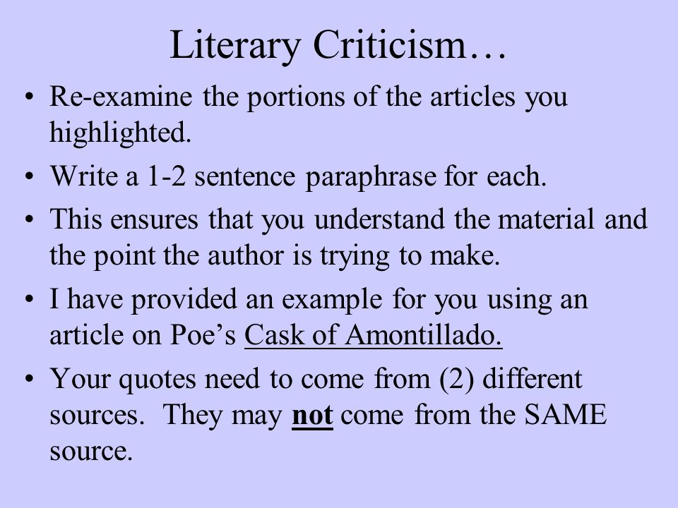 cask of amontillado literary criticism
