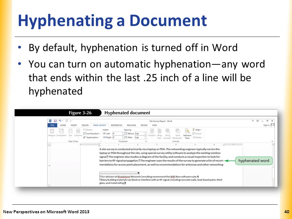 Hyphenating a Document