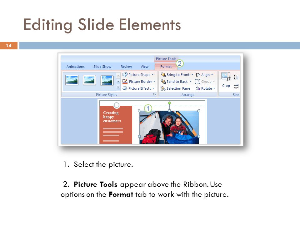 Editing Slide Elements