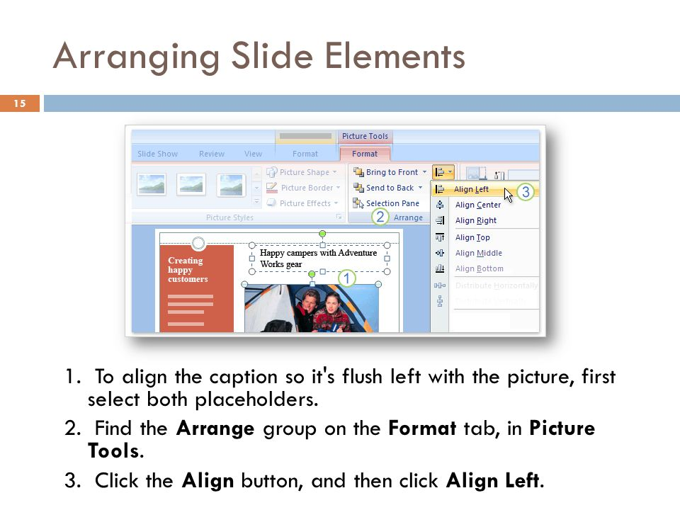Arranging Slide Elements